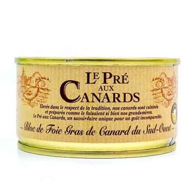 Bloc de Foie Gras van Eendenlever IGP uit Zuid-West Frankrijk 'Le Pré aux Canards' 125 g