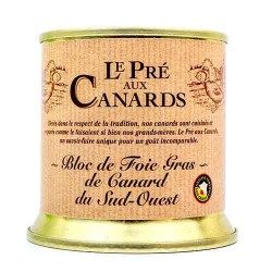 « Bloc de Foie Gras » på anka « Pré aux Canards » 200 g  Gåslever och anklever