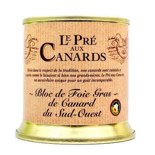 Bloc de Foie Gras van Eendenlever IGP uit Zuid-West Frankrijk 'Le Pré aux Canards' 200 g De foies gras
