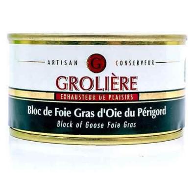 Bloc de Foie Gras d'Oie du Périgord « J. Grolière » 130 g