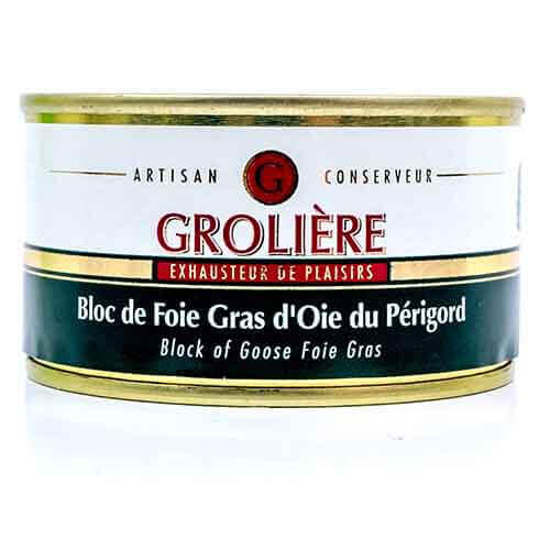 Bloc de Foie Gras van Ganzenlever uit de Périgord « J. Grolière » 130 g De foies gras