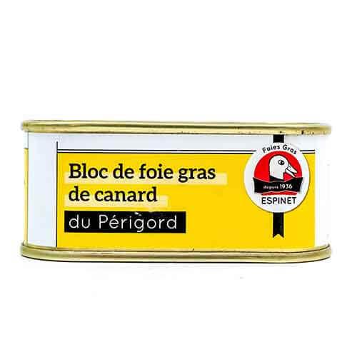 Bloc de Foie Gras de Canard IGP du Périgord « Maison Espinet » 100 g Les foies gras
