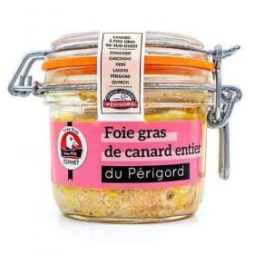 Gehele eenden foie gras uit de Périgord IGP « Maison Espinet » 180 g De foies gras