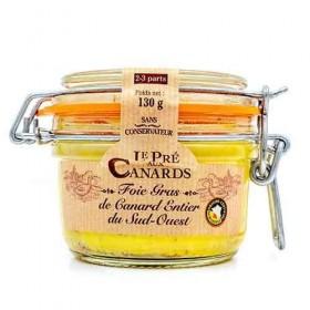 Gehele Foie Gras van Eendenlever IGP uit Zuid-West Frankrijk 'Le Pré aux Canards' 130 g De foies gras