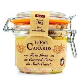 Gehele Foie Gras van Eendenlever IGP uit Zuid-West Frankrijk 'Le Pré aux Canards' 180 g De foies gras