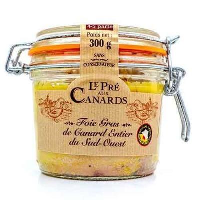 Foie gras entier de canard IGP du Sud-Ouest «Pré aux Canards» 300 g