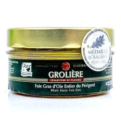 Foie Gras d'Oie Entier du Périgord « J. Grolière » 120 g Les foies gras