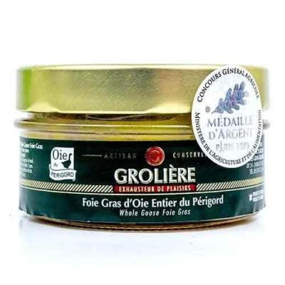 Gehele Foie Gras van Ganzenlever uit de Périgord « J. Grolière » 120 g