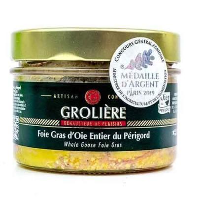 Gehele Foie Gras van Ganzenlever uit de Périgord « J. Grolière » 180 g