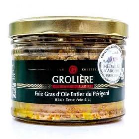 Foie Gras Entier d'Oie du Périgord « J. Grolière » 300 g Les foies gras