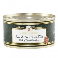 Bloc de Foie Gras d'Oie du Périgord « J. Grolière » 130 g  Les foies gras