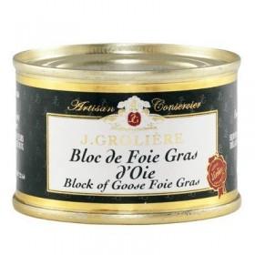 Bloc de Foie Gras d'Oie du Périgord « J. Grolière » 65 g Les foies gras