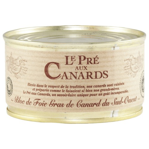 Bloc de Foie Gras de Canard IGP du Sud-Ouest « Pré aux Canards » 125 g Les foies gras