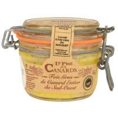 Foie gras entier de canard IGP du Sud-Ouest «Pré aux Canards» 130 g