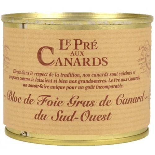 Bloc de Foie Gras de Canard IGP du Sud-Ouest « Pré aux Canards » 200 g Les foies gras